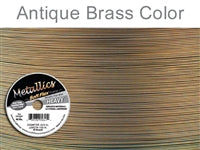 Soft Flex 49 Strand .024 Inch Diameter, 100 feet Beading Wire, Antique Brass Color. (Sold as - 1 Spool Per Pack)