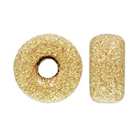 Gold Filled 7.0mm Stardust Roundel Bead. Sold as - 6 Pieces Per Pack
