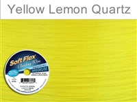 Soft Flex 49 Strand .019 Inch Diameter, 100 feet Beading Wire, Yellow Lemon Quartz. (Sold as - 1 Spool Per Pack)