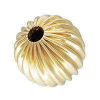 Gold Filled 7.0mm Corrugated Round Bead. Sold as - 6 Pieces Per Pack