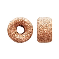 Gold Filled - Rose Gold 5.0mm Stardust Roundel Bead. Sold as - 10 Pieces Per Pack