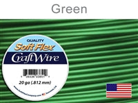 Soft Flex 20 Gauge Craft Wire, Green. (Sold as - 1 Spool Per Pack)