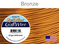 Soft Flex 22 Gauge Craft Wire, Bronze. (Sold as - 1 Spool Per Pack)