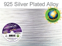 Soft Flex 19 Strand .024 Inch Diameter, 50 feet Extreme Flex Wire, Silver Plated. (Sold as - 1 Spool Per Pack)