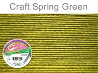 Econo Flex 7 Strand .014 Inch Diameter, 30 feet Beading Wire, Spring Green. (Sold as - 1 Spool Per Pack)