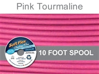 Soft Flex 49 Strand .019 Inch Diameter, 10 feet Beading Wire, Pink Tourmoline. (Sold as - 1 Spool Per Pack)