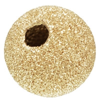 Gold Filled 14.0mm Stardust Round Bead. Sold as - 1 Piece Per Pack