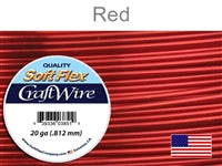Soft Flex 20 Gauge Craft Wire, Red. (Sold as - 1 Spool Per Pack)