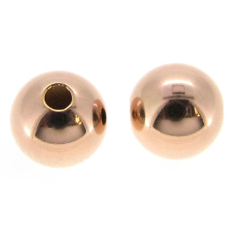 Gold Filled - Rose Gold 5.0mm Seamless Round Bead. Sold as - 20 Pieces Per Pack