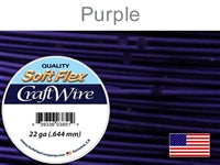 Soft Flex 22 Gauge Craft Wire, Purple. (Sold as - 1 Spool Per Pack)