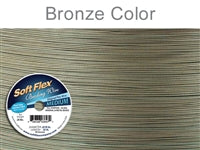 Soft Flex 49 Strand .019 Inch Diameter, 30 feet Beading Wire, Bronze Color. (Sold as - 1 Spool Per Pack)