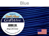 Soft Flex 20 Gauge Craft Wire, Blue. (Sold as - 1 Spool Per Pack)