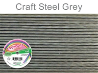 Econo Flex 7 Strand .014 Inch Diameter, 30 feet Beading Wire, Steel Grey. (Sold as - 1 Spool Per Pack)