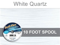 Soft Flex 21 Strand .014 Inch Diameter, 10 feet Beading Wire, White Quartz. (Sold as - 1 Spool Per Pack)