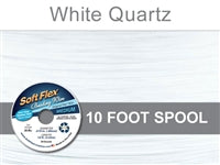 Soft Flex 49 Strand .019 Inch Diameter, 10 feet Beading Wire, White Quartz. (Sold as - 1 Spool Per Pack)
