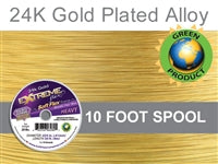 Soft Flex 19 Strand .024 Inch Diameter, 10 feet Extreme Flex Wire, Gold Plated. (Sold as - 1 Spool Per Pack)