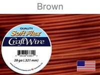 Soft Flex 28 Gauge Craft Wire, Brown. (Sold as - 1 Spool Per Pack)
