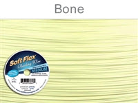 Soft Flex 49 Strand .019 Inch Diameter, 30 feet Beading Wire, Bone. (Sold as - 1 Spool Per Pack)