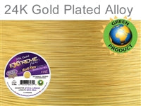 Soft Flex 19 Strand .014 Inch Diameter, 50 feet Extreme Flex Wire, Gold Plated. (Sold as - 1 Spool Per Pack)