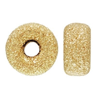 Gold Filled 8.0mm Stardust Roundel Bead. Sold as - 6 Pieces Per Pack