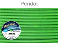 Soft Flex 49 Strand .019 Inch Diameter, 30 feet Beading Wire, Peridot. (Sold as - 1 Spool Per Pack)
