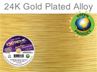 Soft Flex 19 Strand .024 Inch Diameter, 50 feet Extreme Flex Wire, Gold Plated. (Sold as - 1 Spool Per Pack)