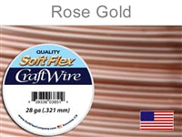 Soft Flex 28 Gauge Craft Wire, Rose Gold. (Sold as - 1 Spool Per Pack)