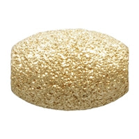Gold Filled 4.0mm by 6.0mm Stardust Oval Bead. Sold as - 6 Pieces Per Pack