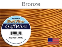 Soft Flex 20 Gauge Craft Wire, Bronze. (Sold as - 1 Spool Per Pack)