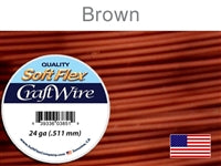 Soft Flex 24 Gauge Craft Wire, Brown. (Sold as - 1 Spool Per Pack)