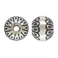 Sterling Silver 8.0mm Round Bead With Bali Pattern. Sold as - 4 Pieces Per Pack