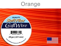 Soft Flex 28 Gauge Craft Wire, Orange. (Sold as - 1 Spool Per Pack)
