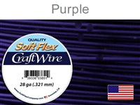 Soft Flex 28 Gauge Craft Wire, Purple. (Sold as - 1 Spool Per Pack)