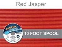Soft Flex 49 Strand .019 Inch Diameter, 10 feet Beading Wire, Red Jasper. (Sold as - 1 Spool Per Pack)