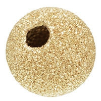 Gold Filled 12.0mm Stardust Round Bead. Sold as - 2 Pieces Per Pack