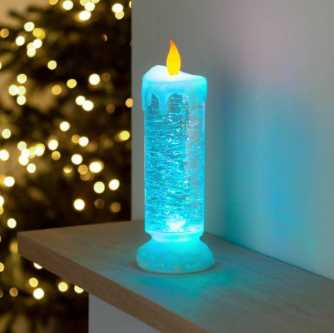 Colour Changing LED Water Candle With Glitter