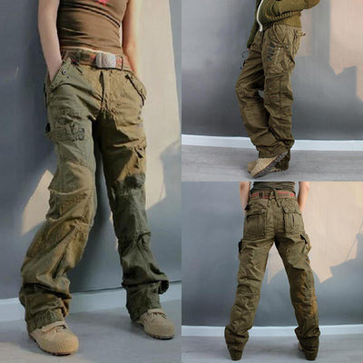 <🔥2020 Hot Sale>Women's loose multi-pocket camouflage overalls