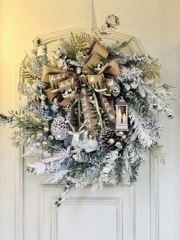 "A Warm Winter Welcome""Big Bow-knot Wreath 🌲"