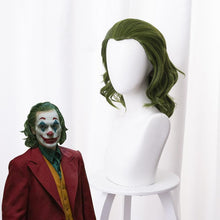 Load image into Gallery viewer, 2019 Movie Joker Suicide Squad Clown Joker Short Curly Green Cosplay Wig Cosplay for Boys Adult Men Halloween Carnival