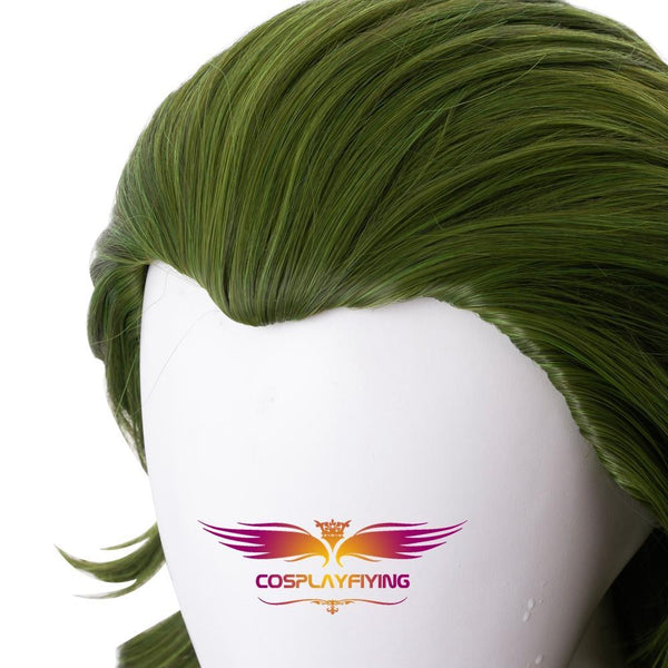 2019 Movie Joker Suicide Squad Clown Joker Short Curly Green Cosplay Wig Cosplay for Boys Adult Men Halloween Carnival