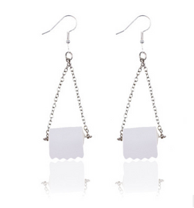 Sterling Silver Toilet Paper Earrings  2020 Best Gift