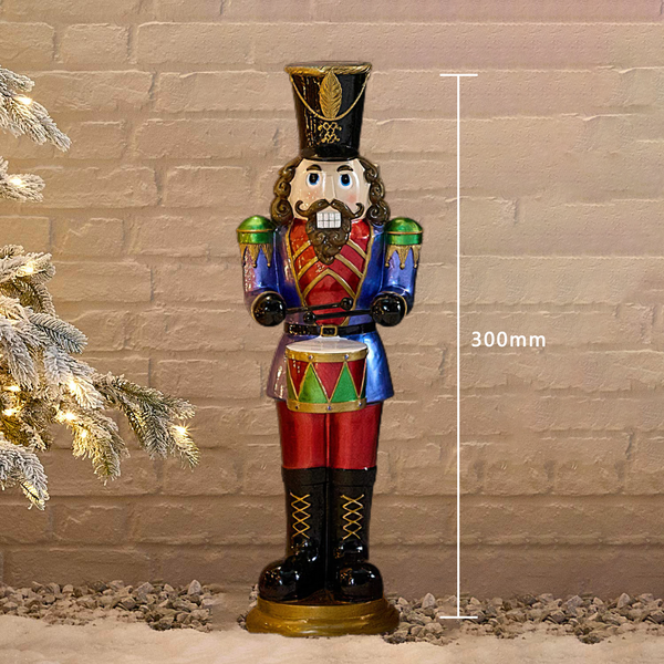 🎅Christmas Sale🎅 Animated Musical Nutcracker with drum🌲3-YEAR WARRANTY