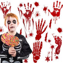 Halloween blood hand footprints wall stickers