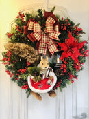 "A Warm Winter Welcome""Little Squirrel Wreath 🌲"