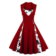 Load image into Gallery viewer, 4Xl 5Xl Plus Size Women Robe Pin Up Dress Retro Vintage 1950S 60S Rockabilly Swing Summer Dresses Tunic Vestidos