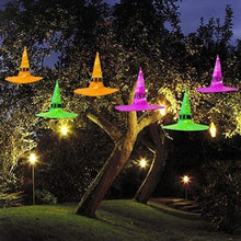 Load image into Gallery viewer, HALLOWEEN Decorations Glowing Witch Hat Decorations 2 in 1 Hanging/Wearable