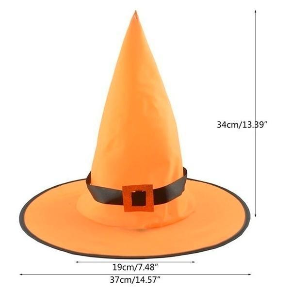 HALLOWEEN Decorations Glowing Witch Hat Decorations 2 in 1 Hanging/Wearable