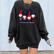Christmas elderly casual pullover round neck sweater