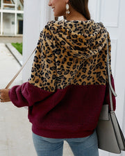 New Leopard Patchwork Sherpa Jacket (5 Colors)