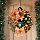 Elegant Orange Christmas Wreath